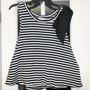 Better B. Black and White Striped with Bow